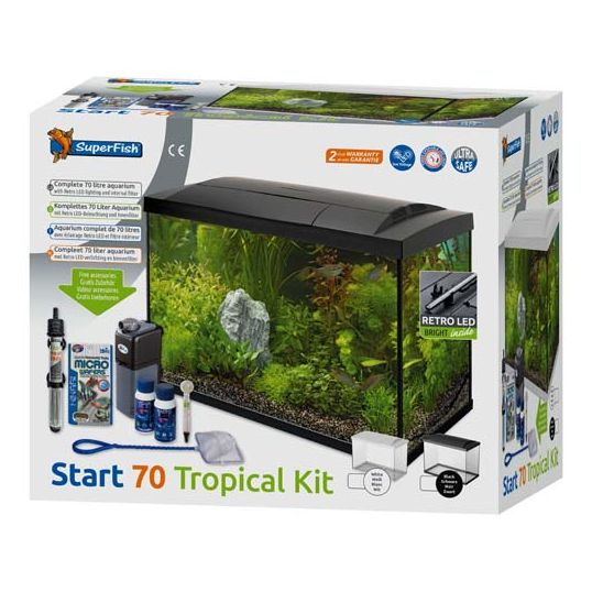 Superfish Start Tropical kit 70 LED - Zwart - afbeelding 2
